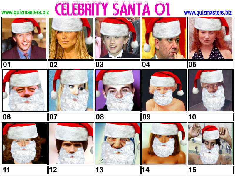 Can you guess the celeb hidden under Santa's beard ...