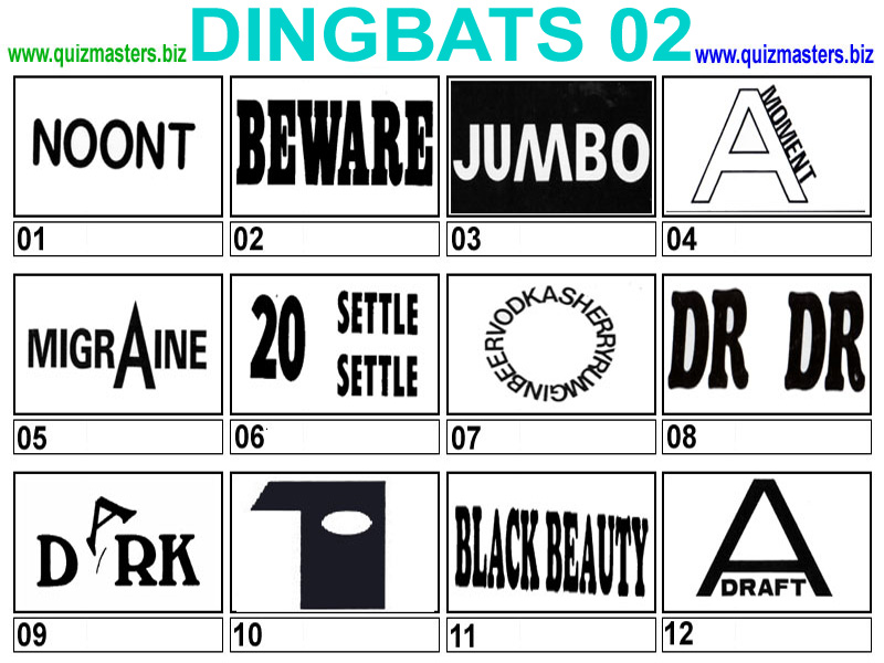 Free Dingbats Quizzes Free Printable Related Pictures Dingbats Quizzes ...