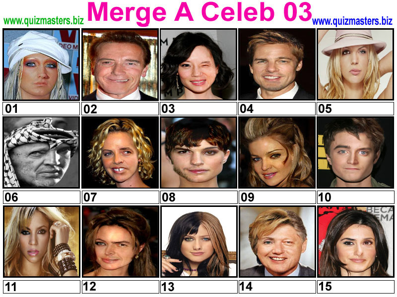 Celebrity Morphing | Merging famous faces.